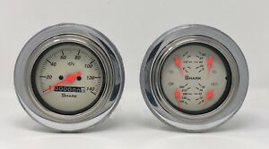 1951 1952 Chevy Car 3 3 8 Quad Style Gauge Set Dash Panel Cluster Insert Shark