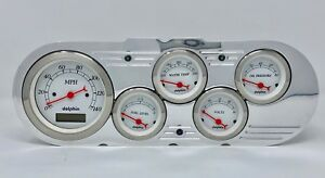 1963 1964 1965 Chevy Nova 5 Gauge Dash Cluster White