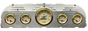 1960 1961 1962 1963 Chevy Truck 5 Gauge Dash Panel Insert Cluster Set Gold