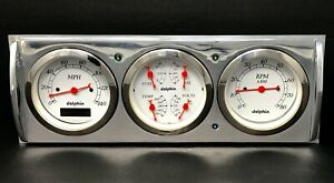 1941 1942 1943 1944 1945 1946 Chevy Truck 3 Gauge Cluster White