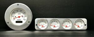 1942 1943 1944 1945 1946 1947 1948 Ford Car 5 Gauge Dash Panel Insert Set White