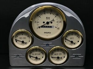1952 1953 Ford Car Gauge Cluster Gold