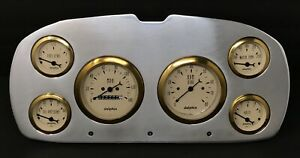1957 1958 Plymouth Car Gauge Cluster Gold