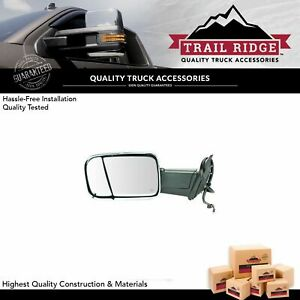 Trail Ridge Tow Mirror Power Folding Heat Memory Signal Puddle Chrome Lh For Ram