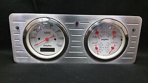 1940 1941 1942 1943 1944 1945 1946 1947 Ford Truck Quad Gauge Dash Cluster White