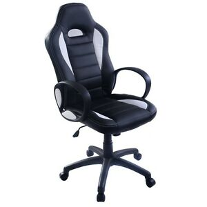 Pu Leather High Back Executive Race Car Style Bucket Seat Office Desk Chair New