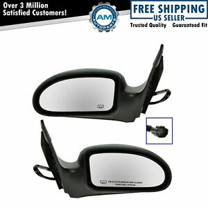 Power Heated Side View Door Mirrors Left Right Pair Set For 03 07 Ford Focus