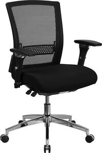 Lot Of 6 Conference Table Or Office Desk Multi function Chair In Black Mesh