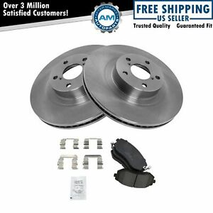 Nakamoto Front Premium Posi Ceramic Disc Brake Pad Rotor Kit Set For Subaru