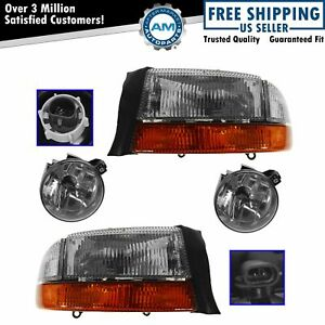 Headlight Fog Driving Light Lamp Kit Set Of 4 For Dodge Dakota Durango Truck New