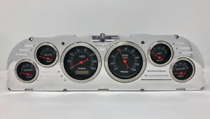 1960 1961 1962 1963 Chevy Truck 6 Gauge Dash Cluster Black
