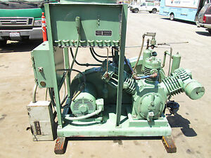 Ingersoll Rand 20 H p Industrial Reciprocating Air Compressor With Aftercooler