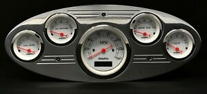 1932 1933 1934 Ford Truck 5 Gauge Dash Panel Insert Polished Programmable White