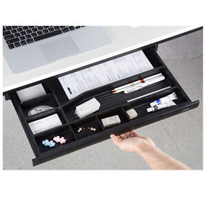 New Desk Under Fixed Rail Drawer Organizers Tray Office Home Black