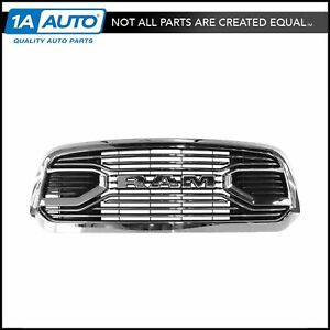 Oem Grille Front Chrome Black W Nameplate For Ram Pickup Truck Mopar New