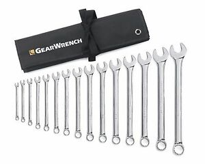Gearwrench 81918 15 Pc Combination Wrench Set long Pattern 5 16 1 1 4 12pt