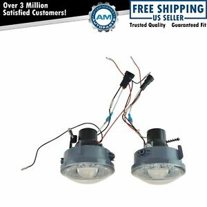 Upgrade Clear Lens Halo Projector Fog Lamp Light Pair For F150 Mark Lt Truck New