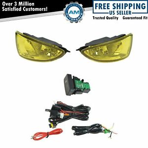 Add On Upgrade Yellow Lens Fog Light Bulb Switch Wiring Kit Set For Honda Civic