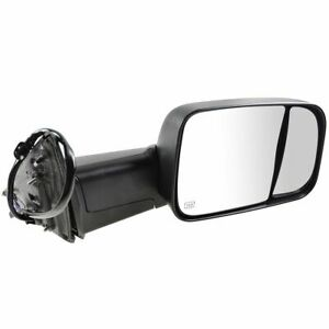 Mirror Power Folding Heated Memory Turn Signal Puddle Textured Black Rh For Ram