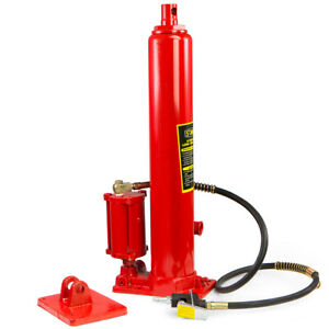 8 Ton Long Ram Air Pump Hydraulic Jack Cherry Picker Shop Lifts 16000 Pounds