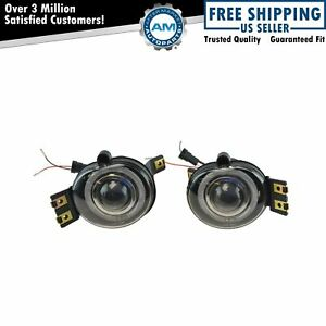 Upgrade Performance Clear Lens Halo Projector Fog Light Lamp Pair For Ram Truck