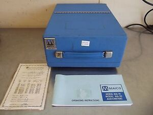 Maico Model Ma 19 Audiometer parts Or Repair no Left Channel m1509
