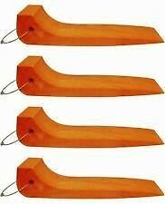 Safety Orange 48 2 Set Of 4 Single Wide Tire Skates Roll Back Wrecker Towtruck