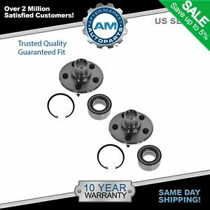 Rear Wheel Hubs Bearings Pair Set New For Ford Lincoln Mercury