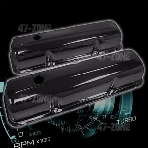 For 1957 76 Ford Bb Fe 352 390 406 427 428 Valve Covers Black Steel