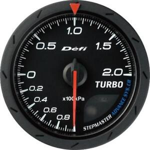 Defi Advance Cr Black 60mm 2 Bar Boost Gauge Metric
