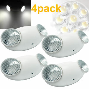 4x All Led Emergency Exit Lighting Standard Bug Eye Head Ul 924 Fire Code Safety