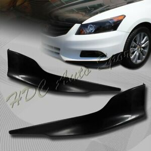 For 2011 2012 Honda Accord 4 dr Oe style Black Polyurethane Front Bumper Lip 2pc