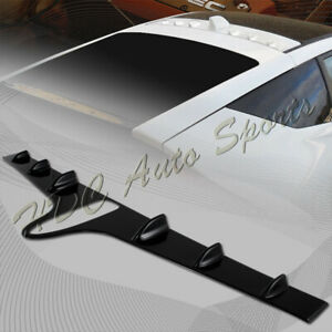 For 2011 2015 Honda Crz Cr z Vg style Abs Black Rear Roof Fin Cover Spoiler Wing