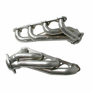 Bbk Short Unequal Length Headers 1 5 8 Silver Ceramic For 1979 1993 Mustang 5 0