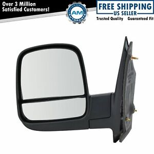Side View Mirror Manual Driver Left Lh For 08 13 Chevy Express Gmc Savana Van
