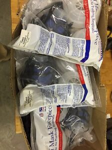 10 New In Box Survivair 301110 Half Facepiece Face Mask Respirators Size S