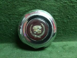 Vintage Cadillac Chrome Wheel Center Cap Red Gold Center 3 Used 44 0001