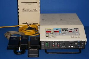 Conmed Sabre 2400 Electrosurgical Unit With 2 Footswitches