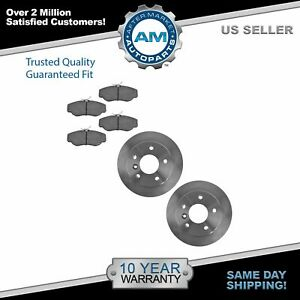 Front Brake Pad And Rotor Pair Kit Set Posi Ceramic For Discovery