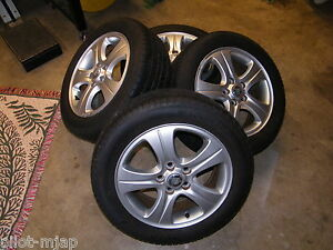 4 Jaguar X Type Wheels And Yokohama Tires 205 55 R16 5 Spoke 80 Tread