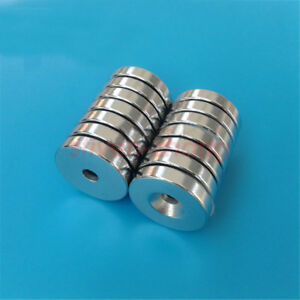 Wholesale 25mm X 4mm Hole 5mm Strong Round Ring Magnets N50 Rare Earth Neodymium