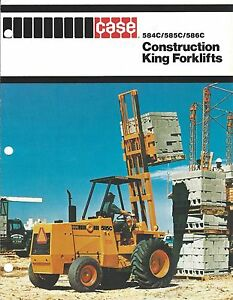 Fork Lift Truck Brochure Case 584c 585c 586c Construction King lt274