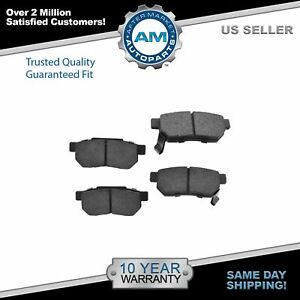 Nakamoto Ceramic Rear Brake Pad Set For Acura Integra Honda Civic Crx Prelude