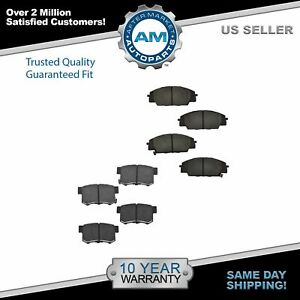 Front Rear Ceramic Brake Pad Kit For Acura Rsx Honda Civic Si S2000
