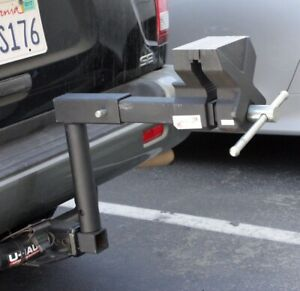 Xtreme Tow Hitch Truck 6 Bench Vise Fits 2 Hitch Receiver W raise Neck