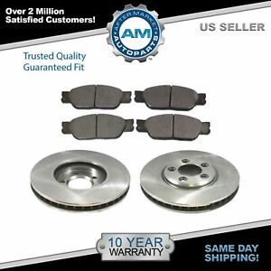 Nakamoto Front Disc Brake Pad Rotor Kit Set For Lincoln Ls S type New