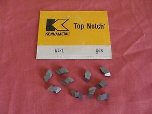 New Old Stock Kennametal Carbide Threading Inserts Nt2l K68 Lot Of 10