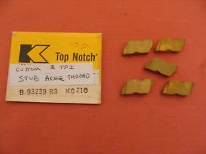Nos Kennametal Carbide Stub Acme Threading Insert 3 Tpi Kc210 Lot 5 Custom
