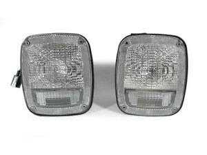 Depo Pair Of Euro Clear Rear Tail Lights For 1987 1995 Jeep Wrangler Yj