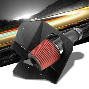 Cold Air Intake Black Pipe red Filter heat Shield For Toyota 07 11 Camry 3 5l